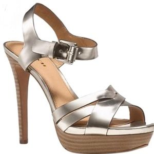 Coach Dani gold heels size 5